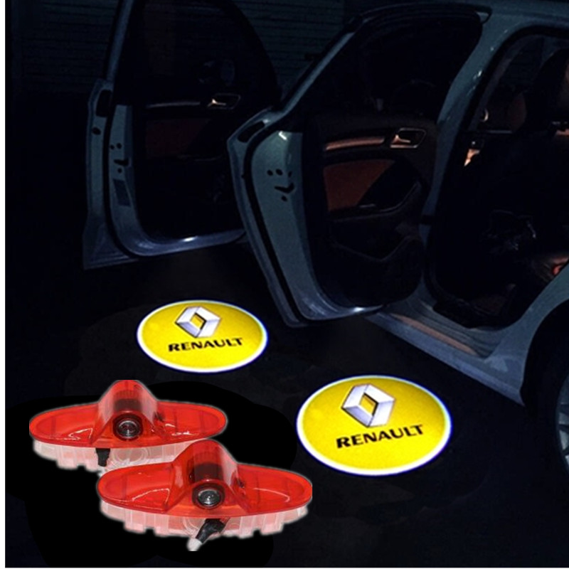 <font><b>LED</b></font> Door Welcome Light Projector <font><b>Logo</b></font> Car Styling Ghost Shadow Courtesy Laser lamp For <font><b>Renault</b></font> latitude Talisman laguna Espace image
