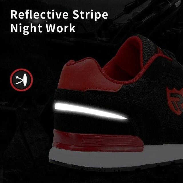 LARNMERN أحذية أمان رجالية في الهواء الطلق SRC خفيفة الوزن أحذية رياضية 6