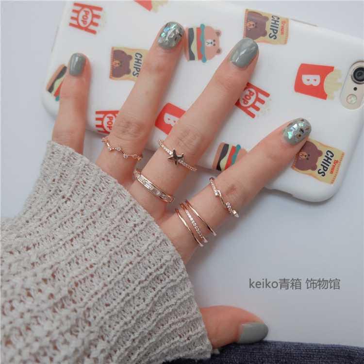 1 conjunto vender elefante anel moda ouro cor anéis de junta para as mulheres dedo anéis de junta jóias presente
