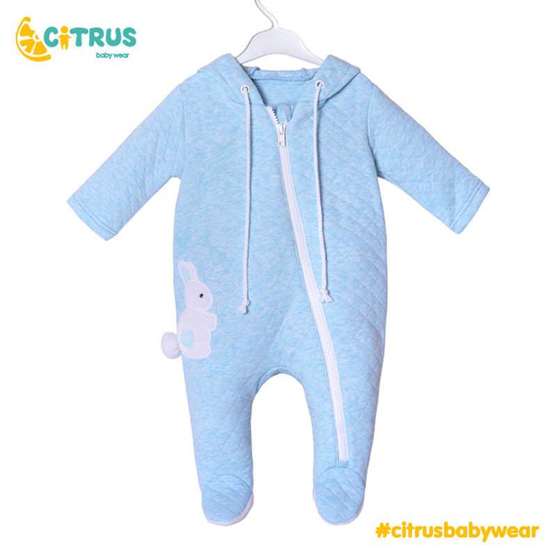 CITRUS 2020, ropa para bebé niña y niño recién nacido, Pelele de algodón de manga larga, mono con cremallera, atuendo de 0 a 24M, ropa para niños