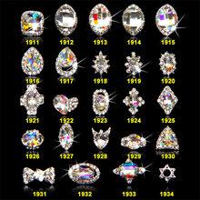 10 Pçs/lote Nail art strass Brilhante Transparente cristal prego jóias decoração acessórios Colorido gotas de água broca Manicure