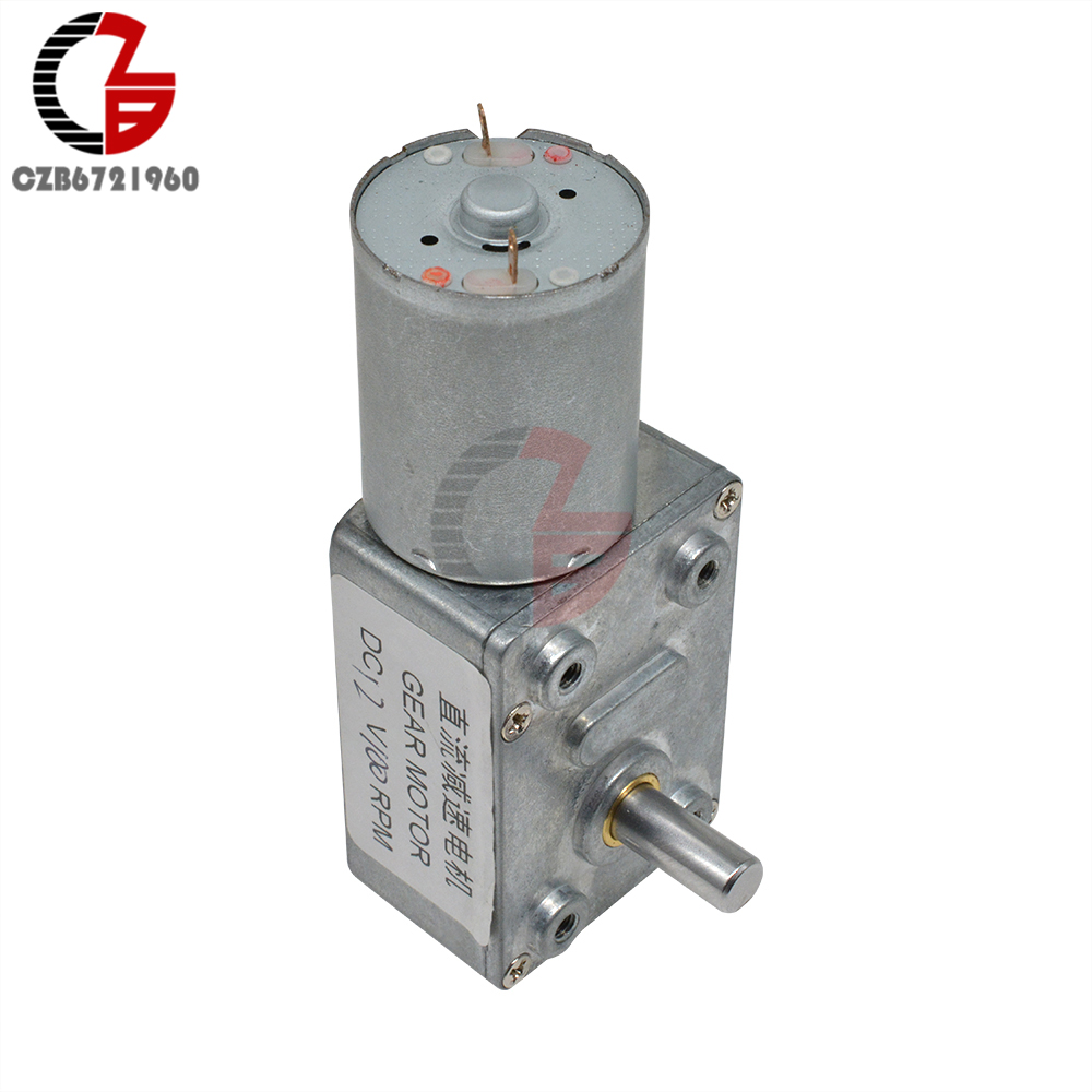 4632 370 Worm Axle Axis DC Gear Motor 12V 100RPM Linear Electric Miniatura Motor for Home Appliance Fan Car Hobby Toy RC Car