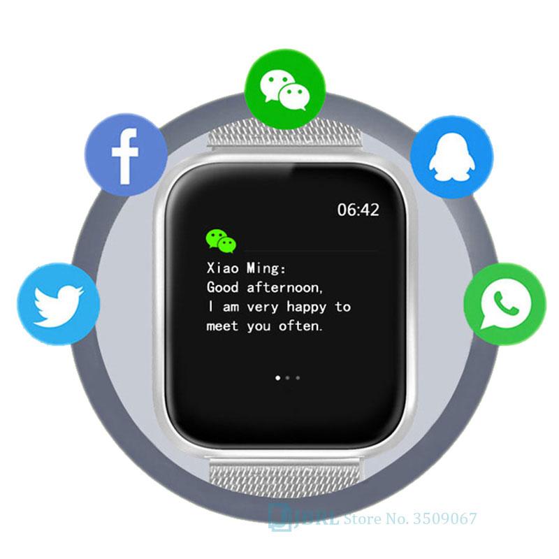 He334eeea83364ed9b07a5cd4dc69204aW 2021 Ladies Sport Bracelet Smart Watch Women Smartwatch Men Smartband Android IOS Waterproof Fitness Tracker Smart Clock Mens