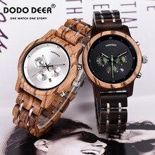 DODO DEER relojes elegantes de madera para mujer, cronógrafo militar, de cuarzo moda, deportivo, Para Mujer, Orologio Donna