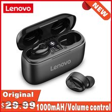 Nouveau Lenovo HT18 sans fil TWS 5.0 écouteurs 1000mAH batterie LED affichage contrôle du Volume écouteurs HIFI stéréo HD parler Stock