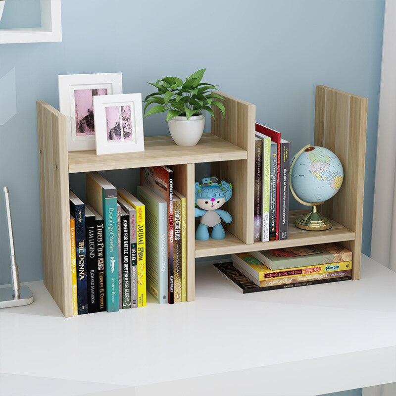 Retractable Desktop Bedside Table Children Dormitory Bookcase Bedside Table Students Office Storage Rack Bookshelf Storage