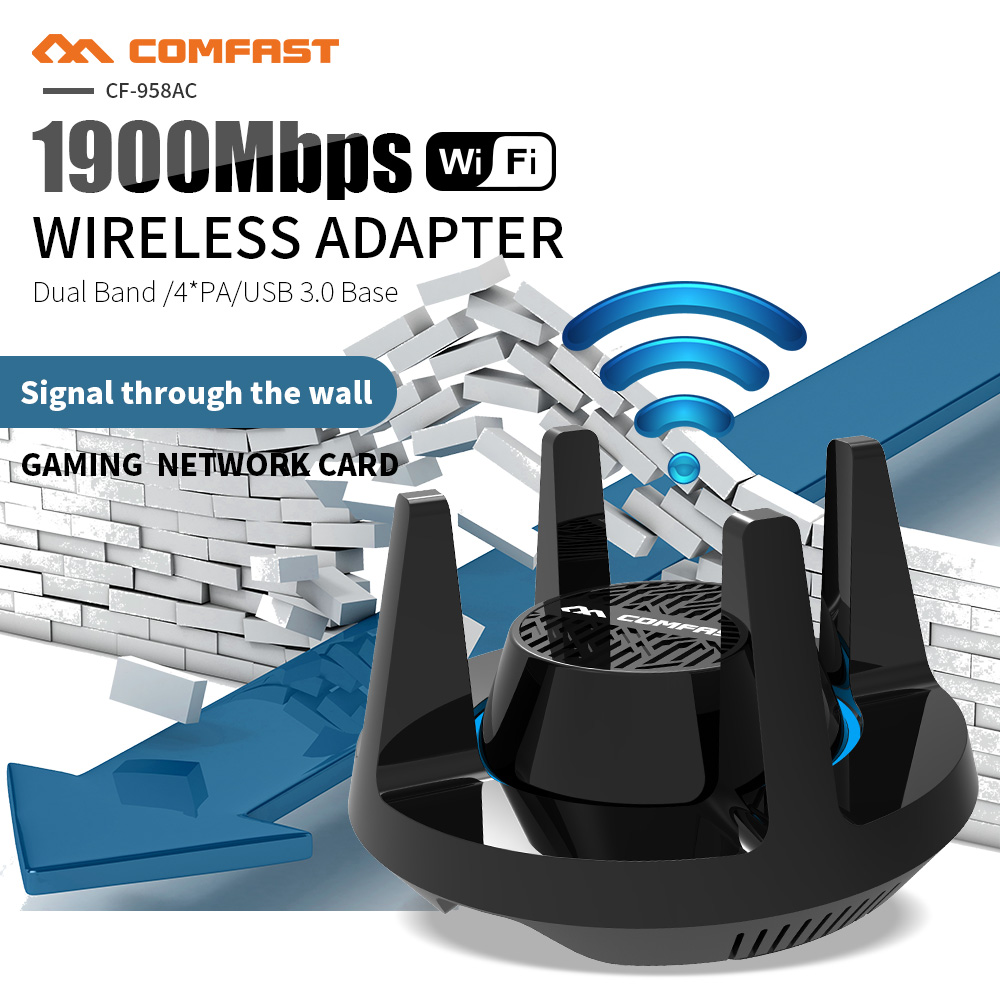 Comfast 1900Mbps Gigabit Wireless WiFi Adapter Dual Band 2.4 & 5.8Ghz High Power Gaming Network Card(China)