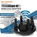 Comfast 1900 Мбит/с Гигабитный беспроводной Wi-Fi адаптер, двухдиапазонный 2,4 и 5,8 ГГц, высокая мощность, игровая сетевая карта