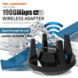 Comfast 1900Mbps Gigabit bezprzewodowy Adapter WiFi dwuzakresowy 2.4 i 5.8Ghz wysokiej mocy karta sieciowa do gier