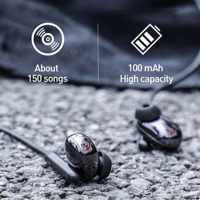 Baseus S30 Bluetooth Wireless Earphone Baseus S30 Bluetooth Earphone Wireless Lightweight Sport earphones IPX5 Waterproof 3D Stereo Bass Earphone with HD