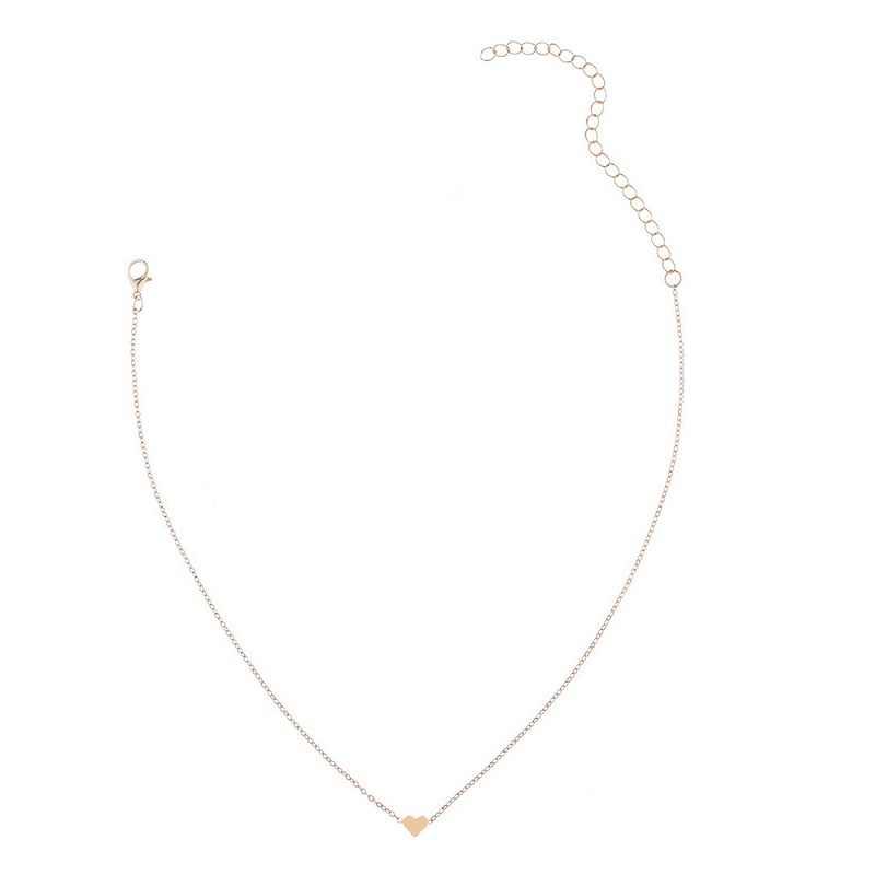 Nuovo semplice del cuore della collana della signora elegante joker boutique amore ornamenti collare cuore catena della clavicola