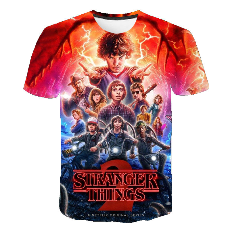 2020 New 3D Printed T Shirt Stranger Things 3 T-shirt Men' Children's Short Sleeve Tops Hot TV Series Camiseta Kid's Summer Tees