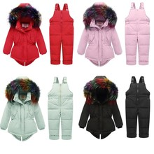 2019 Baby Girl Winter Coat Children's Down Jacket Set Children's 1-3 Year Old Boys&girls 2 Pcs Of Clothes Baby Winter Snowsuits 18m 3 catimini year old girls jacket page 5 page 2