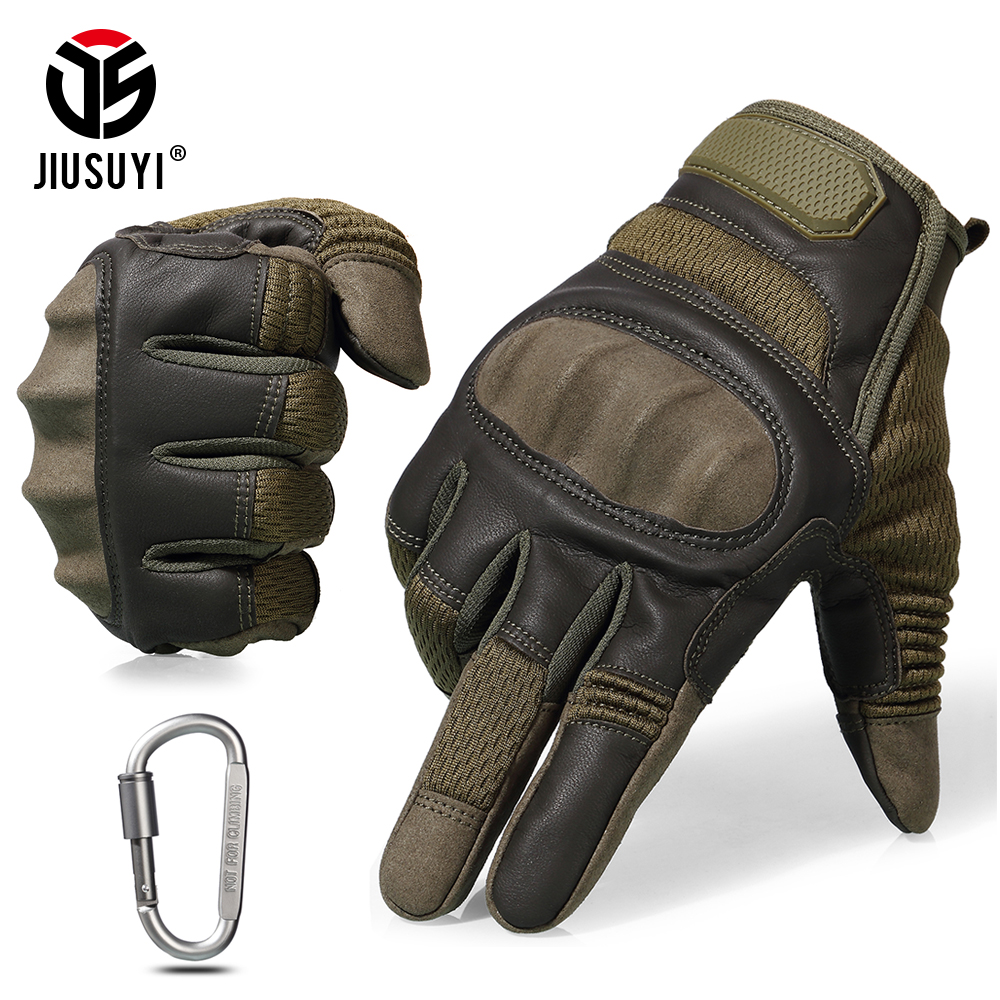 Tactical Military Full Finger Gloves Touch Screen Airsoft Combat Paintball Shooting Hard Knuckle Armor Bicycle Driving Glove Men
