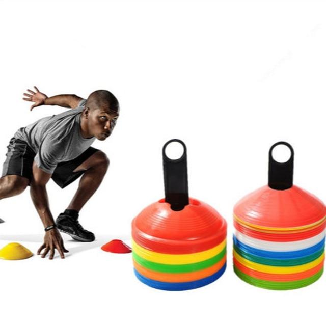 Hot 10pcs Cones Marker Discs Soccer Football Training Tools 19cm 7.41inch Soccers Sports Entertainment Accessories Tools