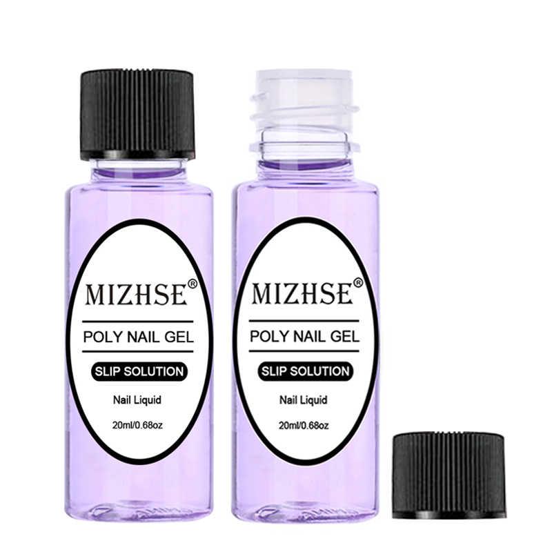 Mizhse 20 Ml Poly Polish Gel Vloeibare Anti Oplossing Quick Builder Gel Nagels Permanente Helder Acryl Vloeistof Nail Art Uitbreiding gel
