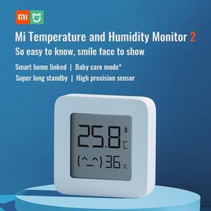Image 2 - オリジナル Xiaomi Mijia Bluetooth 温度と湿度モニター 2 温度計比重計 T & H HT スマートホームスーパーロングスタンバイ