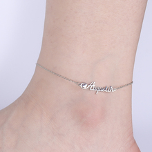 Customized Anklets Stainless-Steel Foot-Jewelry Skyrim-Name Women Gift Girls Unique