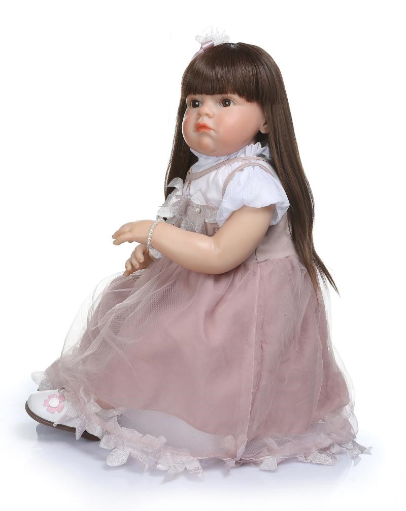 28/'/' Cute Handmade Reborn Toddler Dolls Lifelike Naked Baby Girl Birthday Gifts