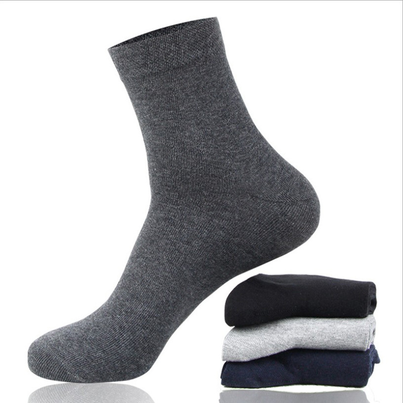 Men's solid color business casual socks sweat-absorbent breathable deodorant comfortable fashion men's socks
