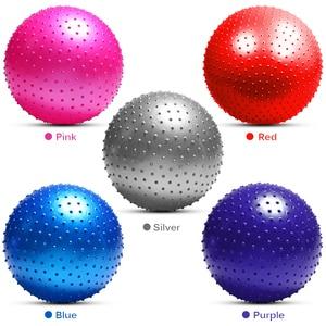Image 2 - Мяч для йоги с защитой от взрывов, утолщенный стабильный баланс для пилатеса, физического упражнения, подарок, воздушный насос, 55 см/65 см/75 см