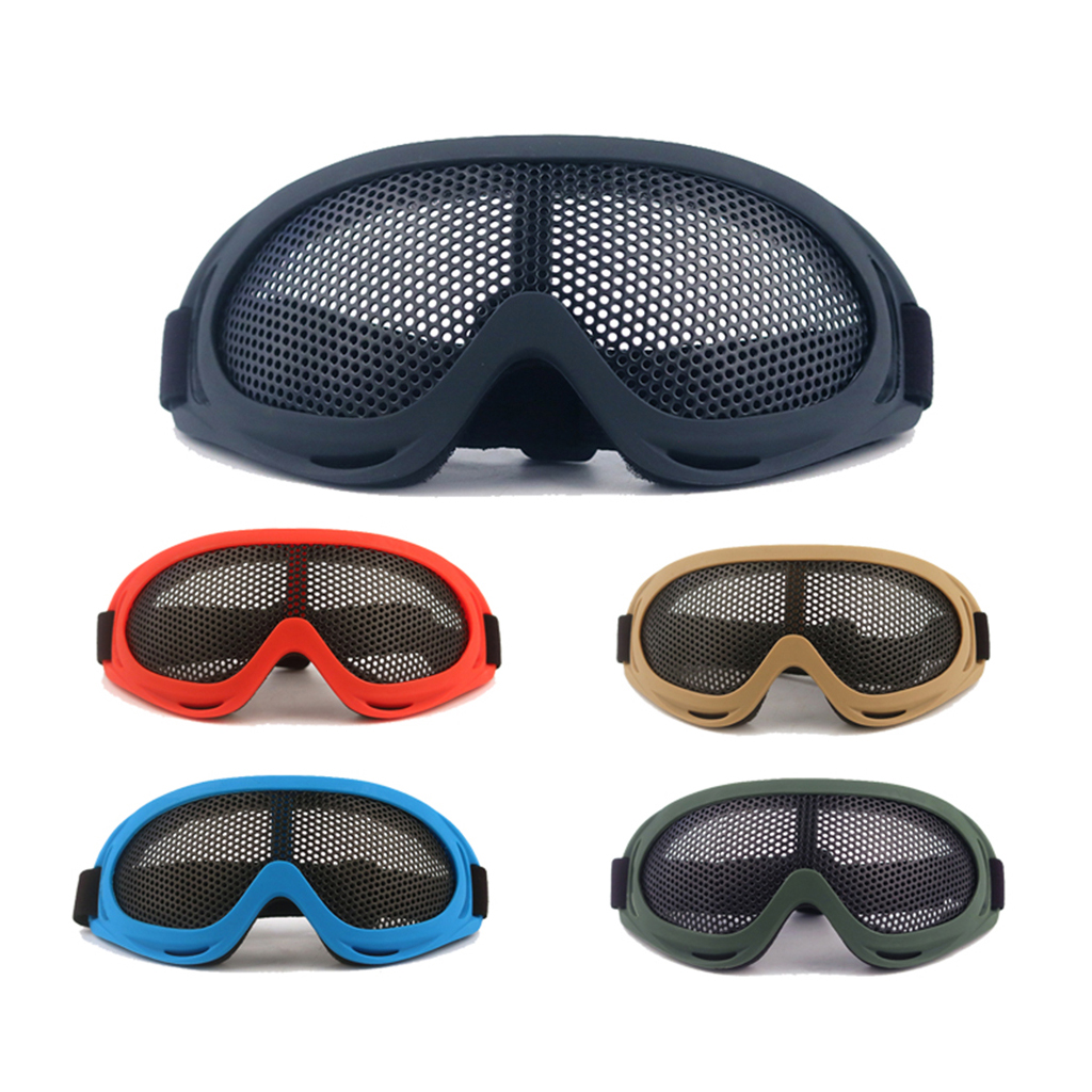 Metal Mesh Protective Goggles Anti-fog Glasses Strong Eye Protection For Mountain Climbing