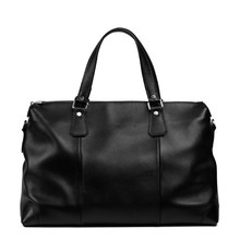 Genuine leather large capacity men duffle outdoor casual travel bag