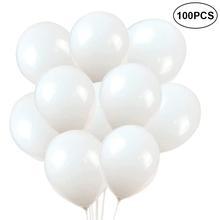 10/30/45/100 шт шаров латексные шары Детские игрушки Фестиваль белый принадлежности для вечеринки шары украшения дома с веревкой баллон с гелием