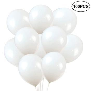 Globos de látex de 10/30/45/100 uds, juguetes infantiles globo Festival, suministros de fiesta de globos blancos, decoración del hogar con cuerda, tanque de helio