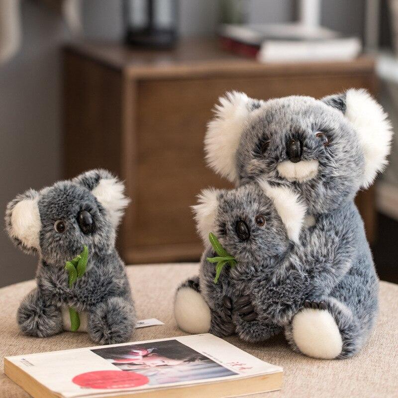 ¡Novedad de 2020! Muñeco de koala de simulación, bonito juguete de koala para madre e hijo Familia Koala en árbol blanco rama vinilos pegatinas para la pared del cuarto de niños calcomanías arte Mural extraíble bebé niños habitación pegatina decoración del hogar