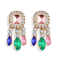 New Fashion Luxury Drop Pearl Earring Pendant Colorful Crystal Earrings in For Women