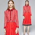 Брендовое платье, новинка 2020, осенние женские платья больших размеров, одежда с длинным рукавом, платья в европейском стиле, одежда высокого...
