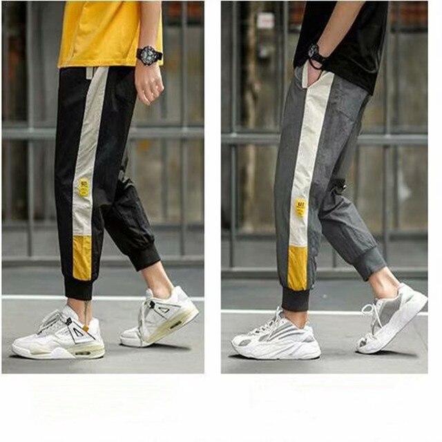 2020  Hip Hop Sweatpants Men Streetwear Fitness Pants Casual Black Dark Grey Joggers Sweatpants 15