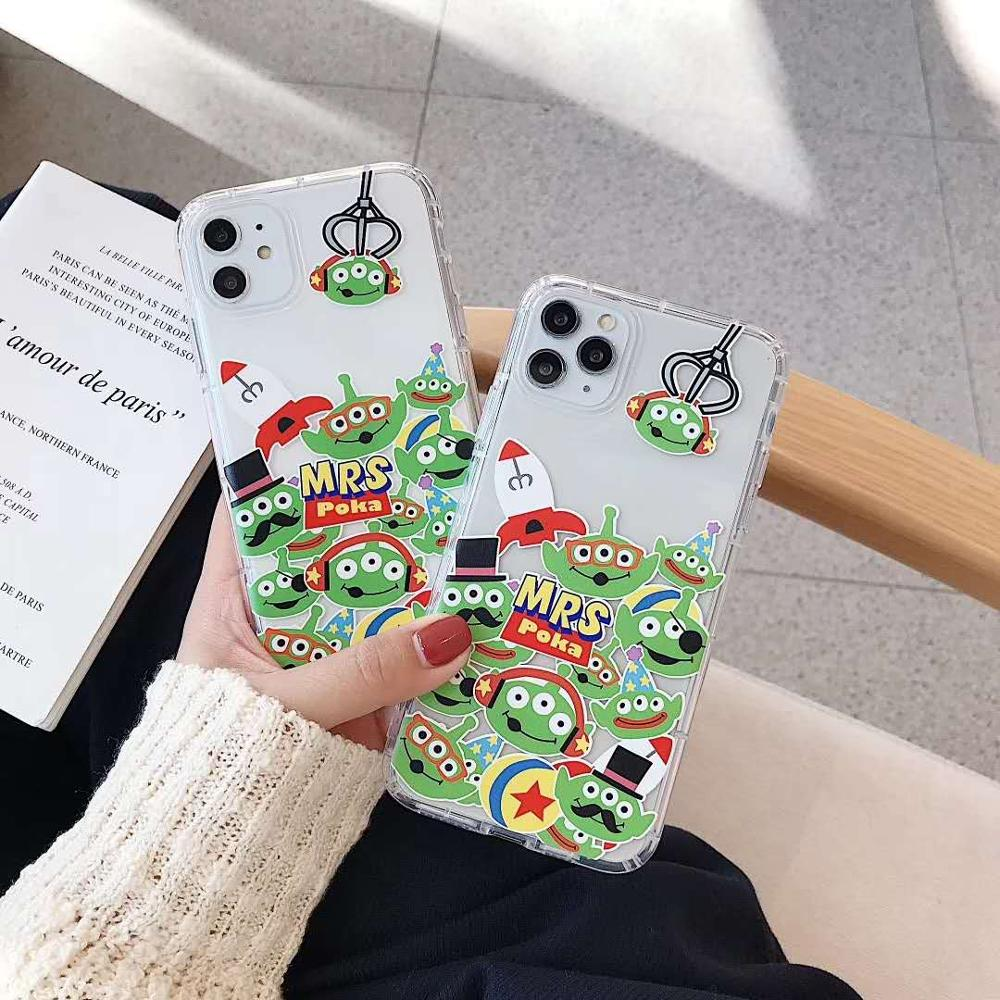 <font><b>Toy</b></font> <font><b>story</b></font> cartoon cute Allen phone case for <font><b>iphone</b></font> 11 case soft silicone for <font><b>iphone</b></font> XS MAX XR <font><b>6</b></font> <font><b>6</b></font> S 7 8 Plus clear cover <font><b>fundas</b></font> image