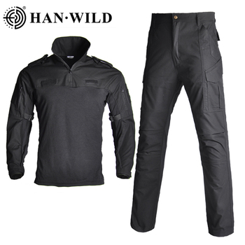 Military Suits Tactical Camouflage Uniform Clothes Suit Men US Army Airsoft Combat Shirt + Cargo Pants