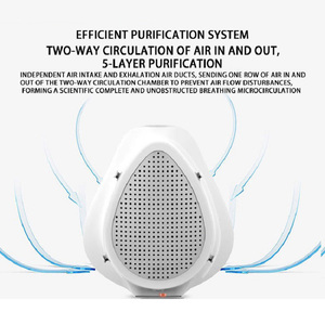 Image 4 - Air Purifier Respirator Electric Mask Dustproof Portable Oxygen Machine Mouth Mask Face Protective Mask Filter Dust Mask