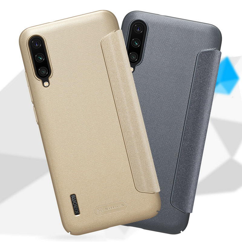 Nillkin Sparkle Leather Case for Xiaomi Mi A3 /A3 Lite Hard PC Cover For Xiaomi Mi CC9 CC9E Flip Case Cover Mi 9 Lite Mi9 Coque