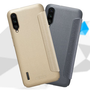 Image 4 - Nillkin Sparkle skórzane etui do Xiaomi Mi A3 /A3 Lite twardy PC pokrywa dla Xiaomi Mi CC9 CC9E odwróć skrzynki pokrywa Mi 9 Lite Mi9 Coque