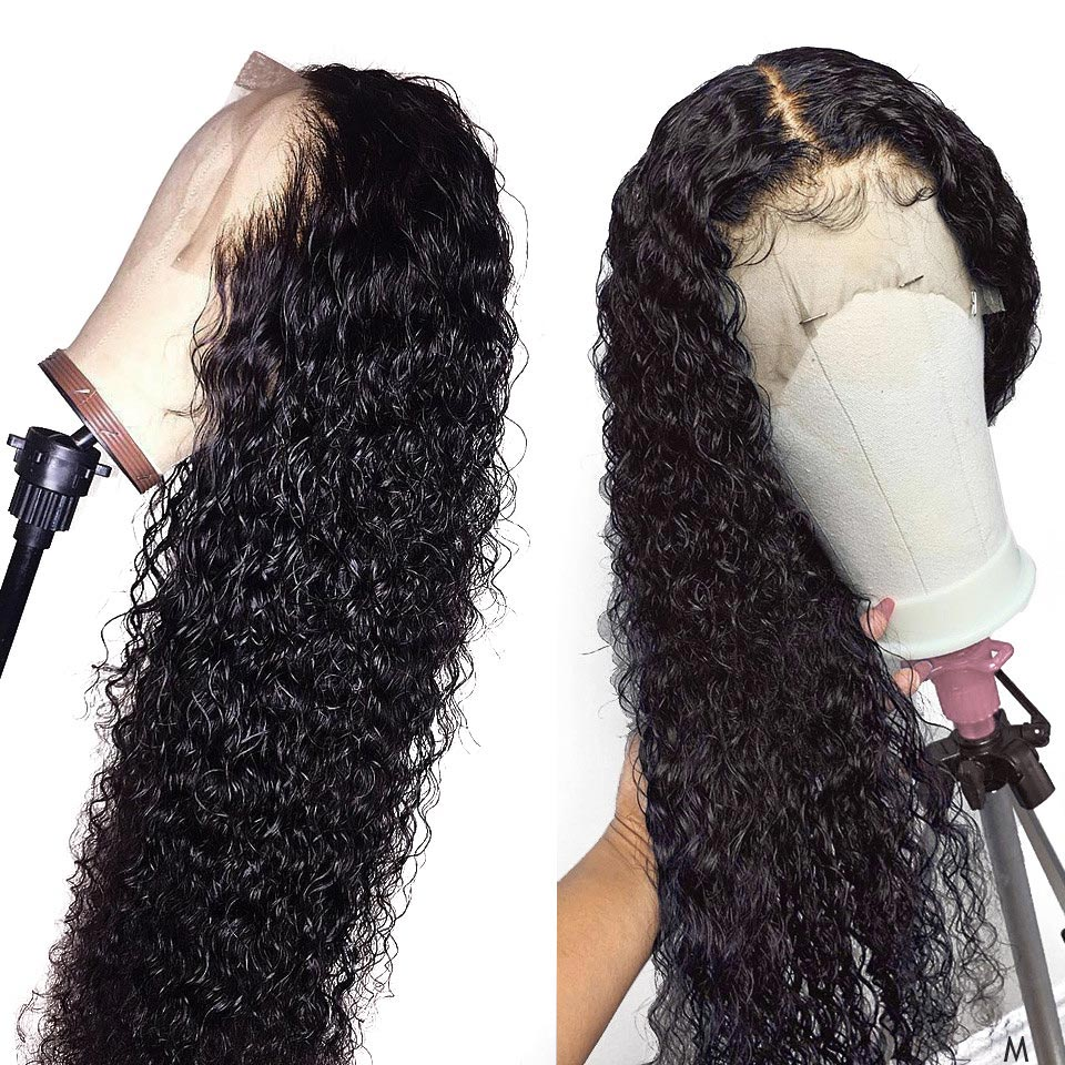 Remy Brazilian Hair 13x4 Lace Frontal Wig Short Deep Curly Lace Front Human Hair Wig Pre Plucked For Black Women 150% Density