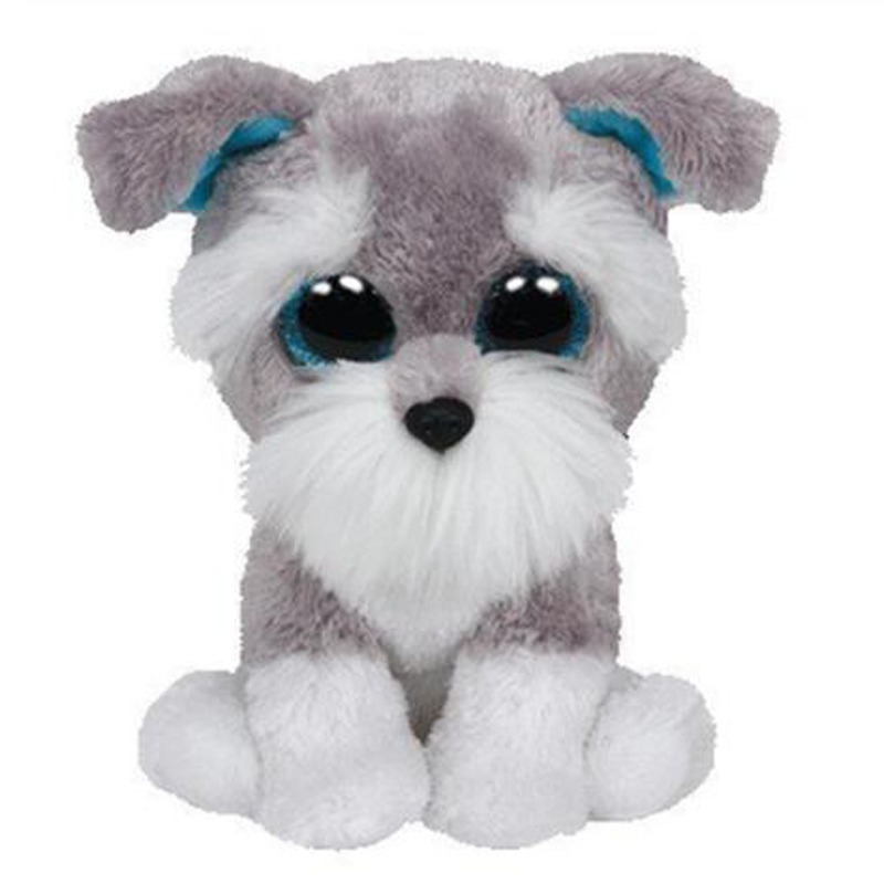 Ty Whiskers The Schnauzer Dog Plush Animal Toys Stuffed Doll Gift 15cm