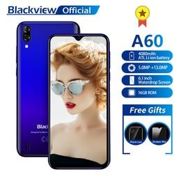 Blackview A60 Smartphone Quad Core Android 8.1 4080mAh Cellulare 1GB + 16GB 6.1 pollici 19.2: 9 dello schermo di Doppia Fotocamera 3G Del Telefono Mobile