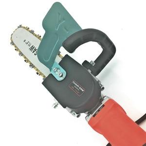 Image 4 - Модернизированный Кронштейн для электрической цепной пилы 11,5 дюйма, регулируемая универсальная цепная пила M10/M14/M16, угловая шлифовальная машина для цепной пилы