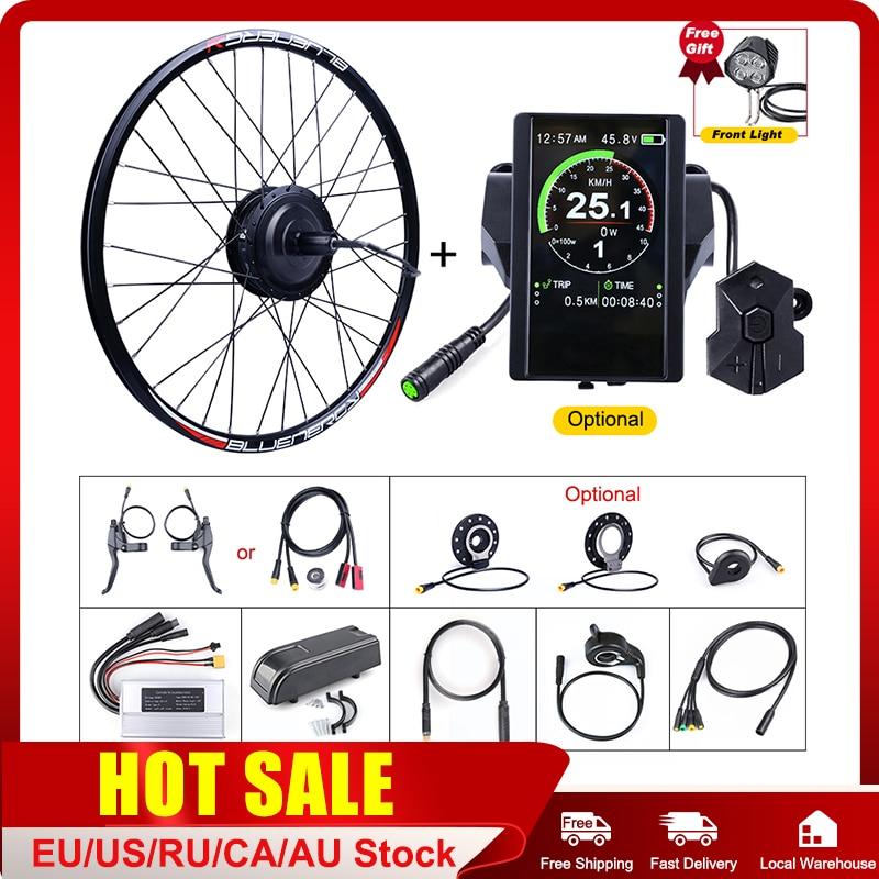E-bike bafang roda traseira 48v 500w hub motor kits de conversão de bicicleta elétrica com 20 26 27.5 700c rodas dc cassete motor