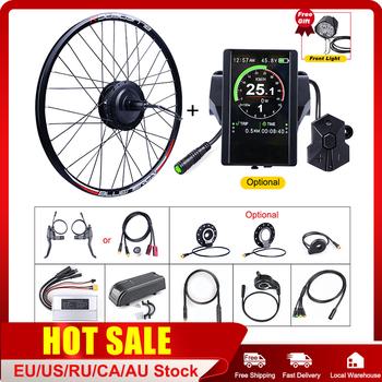 E-bike Bafang tylne koło 48V 500W Hub napęd elektryczny do roweru zestawy do konwersji z 20 26 27 5 700C koła DC kaseta silnik tanie i dobre opinie CN (pochodzenie) Bezszczotkowy 48 v 400 w Bezszczotkowy silnik na piaście Bafang Y48RM G020 500 DC E-bike Conversion Kits