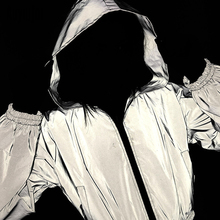 Auyiufar Reflevtive Hooded Womens Short Coat Long Sleeve Zipper Satin Crop Top 2019 Fashion Casual Streetwear Coats And Jacket