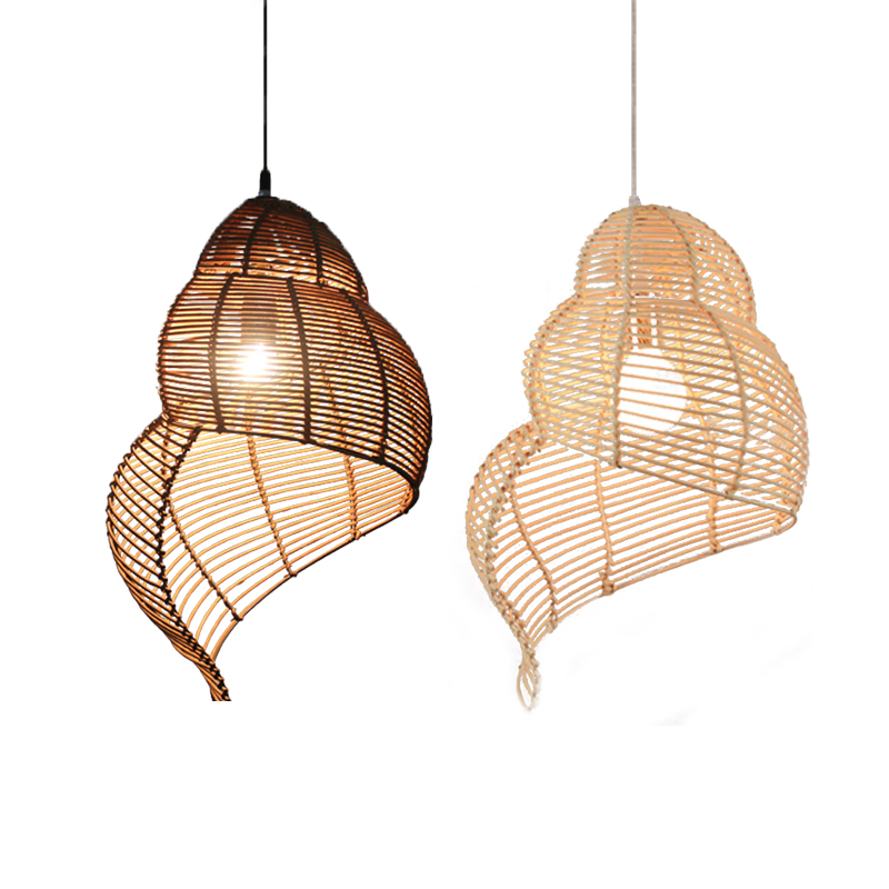 Handmade Hanging Lamps Pendant Lights Rattan Lamp Light Fixture Suspension Luminaire Modern Home Decoration Japanese Teahouse