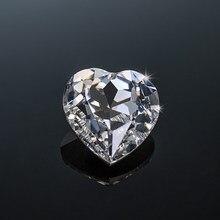 Szjinao 10 pièces en vrac Gesmtones Moissanite pierre 0.2ct 3.5mm D couleur VVS1 en forme de coeur diamant laboratoire non défini pour bijoux gemmes
