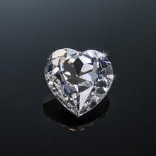 Szjinao 10 stücke Echt Lose Gesmtones Moissanite Steine 0,1 ct 3mm D Farbe VVS1 Herz Geformt Diamant Undefined Undefined Für schmuck Material