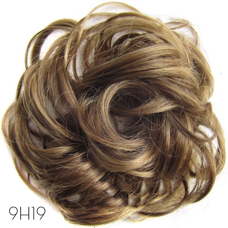 Nouveaux postiches synthétiques bouclés de vague élastique de Filament de haute température de dames enveloppent des accessoires de cheveux pour la faveur de partie de filles de femmes
