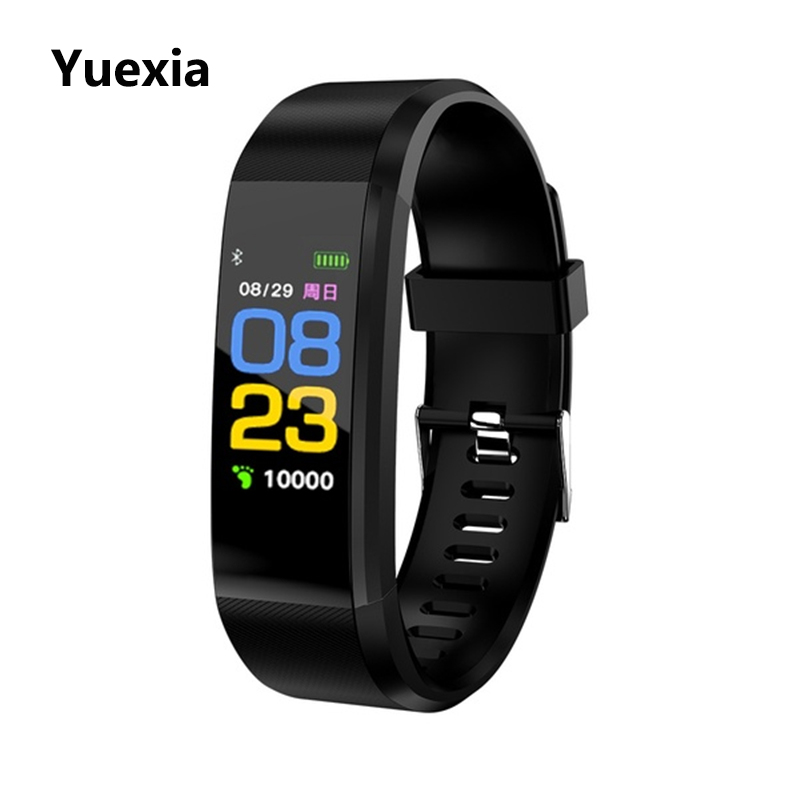 Bluetooth Smart Watch Color Screen Waterproof Heart Rate Blood Pressure Monitor Fitness Bracelet Sport Wristband For IOS Android
